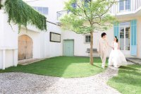 明るいキッチンやグリーン鮮やかな庭のあるレモン&ライム(二子玉川)